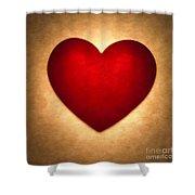 Valentine Heart Shower Curtain by Tony Cordoza