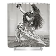 Wahine Hula Shower Curtain by Himani - Printscapes