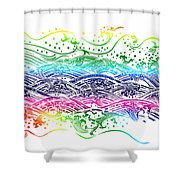 Water Pattern Shower Curtain by Setsiri Silapasuwanchai