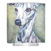 Whippet Shower Curtain by Lee Ann Shepard