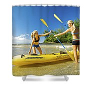 Women Kayakers Shower Curtain by Kicka Witte - Printscapes
