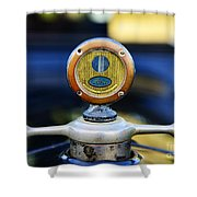 1919 Ford Model T Hood Ornament Original Shower Curtain by Paul Ward
