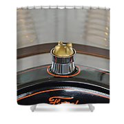 1924 Ford Model T Roadster Hood Ornament Shower Curtain by Jill Reger