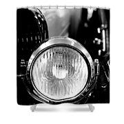 1925 Lincoln Town Car Headlight Shower Curtain by Sebastian Musial
