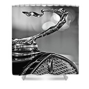 1930 Cadillac Roadster Hood Ornament 2 Shower Curtain by Jill Reger