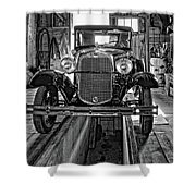 1930 Model T Ford Monochrome Shower Curtain by Steve Harrington