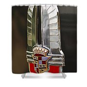 1930's Cadillac Emblem Shower Curtain by Jill Reger