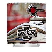 1936 American LaFrance Fire Truck Hood Ornament Shower Curtain by Jill Reger