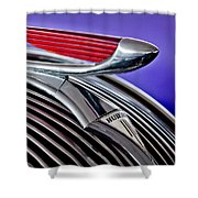 1937 Hudson Terraplane Sedan Hood Ornament 2 Shower Curtain by Jill Reger