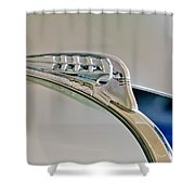 1940 Plymouth Hood Ornament 3 Shower Curtain by Jill Reger