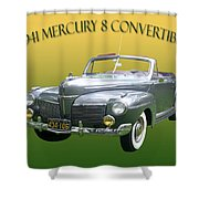 1941 Mercury Eight Convertible Shower Curtain by Jack Pumphrey