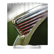 1941 Nash Ambassador 600 Hood Ornament Shower Curtain by Jill Reger