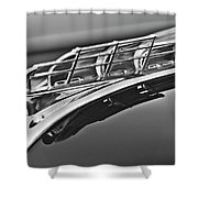1949 Plymouth Hood Ornament 2 Shower Curtain by Jill Reger