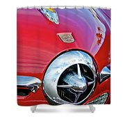 1950 Studebaker Champion Hood Ornament Shower Curtain by Jill Reger