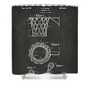 1951 Basketball Net Patent Artwork - Gray Shower Curtain by Nikki Marie Smith