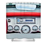 1954 Chevrolet Corvette Dashboard Shower Curtain by Jill Reger