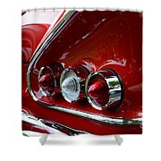 1958 Impala Tail Lights Shower Curtain by Paul Ward