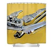 1959 Nash Metropolitan Coupe Hood Ornament Shower Curtain by Jill Reger