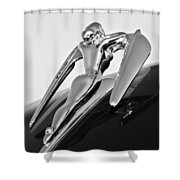 1960 Nash Metropolitan -0854bw Shower Curtain by Jill Reger