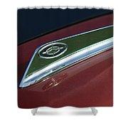 1963 Ford Galaxie Hood Ornament Shower Curtain by Jill Reger