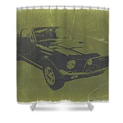 1968 Ford Mustang Shower Curtain by Naxart Studio