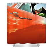 1969 Plymouth Road Runner 440 Roadrunner Shower Curtain by Gordon Dean II