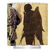 Angel Waiting Shower Curtain by Todd Krasovetz
