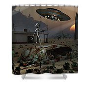 Artists Concept Of A Science Fiction Shower Curtain by Mark Stevenson