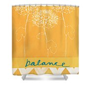 Balance Shower Curtain by Linda Woods
