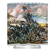 Battle Of Fort Wagner, 1863 Shower Curtain by Granger