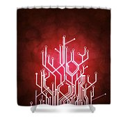 circuit board Shower Curtain by Setsiri Silapasuwanchai