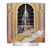 Dangerous Liaisons Shower Curtain by Georges Barbier