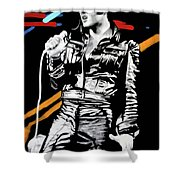 Elvis Shower Curtain by Luis Ludzska