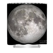 Full Moon Shower Curtain by Stocktrek Images