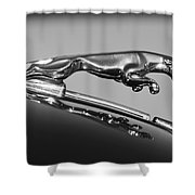 Jaguar Hood Ornament 2 Shower Curtain by Jill Reger