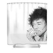 Jimi Hendrix Shower Curtain by Don Medina