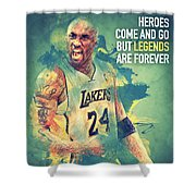 Kobe Bryant Shower Curtain by Taylan Soyturk