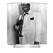 LOUIS ARMSTRONG 1900-1971 Shower Curtain by Granger
