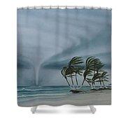 Mahahual Shower Curtain by Angel Ortiz