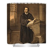 Martin Luther, German Theologian Shower Curtain by Photo Researchers