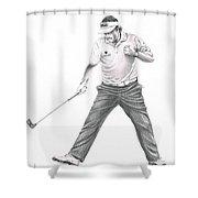 Phil Mickelson Shower Curtain by Murphy Elliott