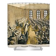 Quaker Meeting Shower Curtain by Granger