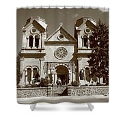 Santa Fe - Basilica Of St. Francis Of Assisi Shower Curtain by Frank Romeo