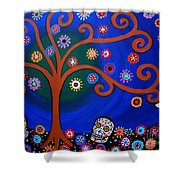 Sementeryo Shower Curtain by Pristine Cartera Turkus