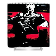 The Godfather Shower Curtain by Luis Ludzska