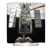 The Hubble Space Telescope Is Released Shower Curtain by Stocktrek Images