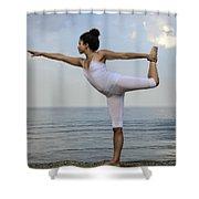 Yoga Shower Curtain by Joana Kruse