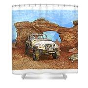 2005 Jeep Rubicon 4 Wheeler Shower Curtain by Jack Pumphrey