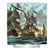 Spanish Armada (1588) Shower Curtain by Granger