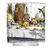 CARROLL: ALICE, 1865 Shower Curtain by Granger